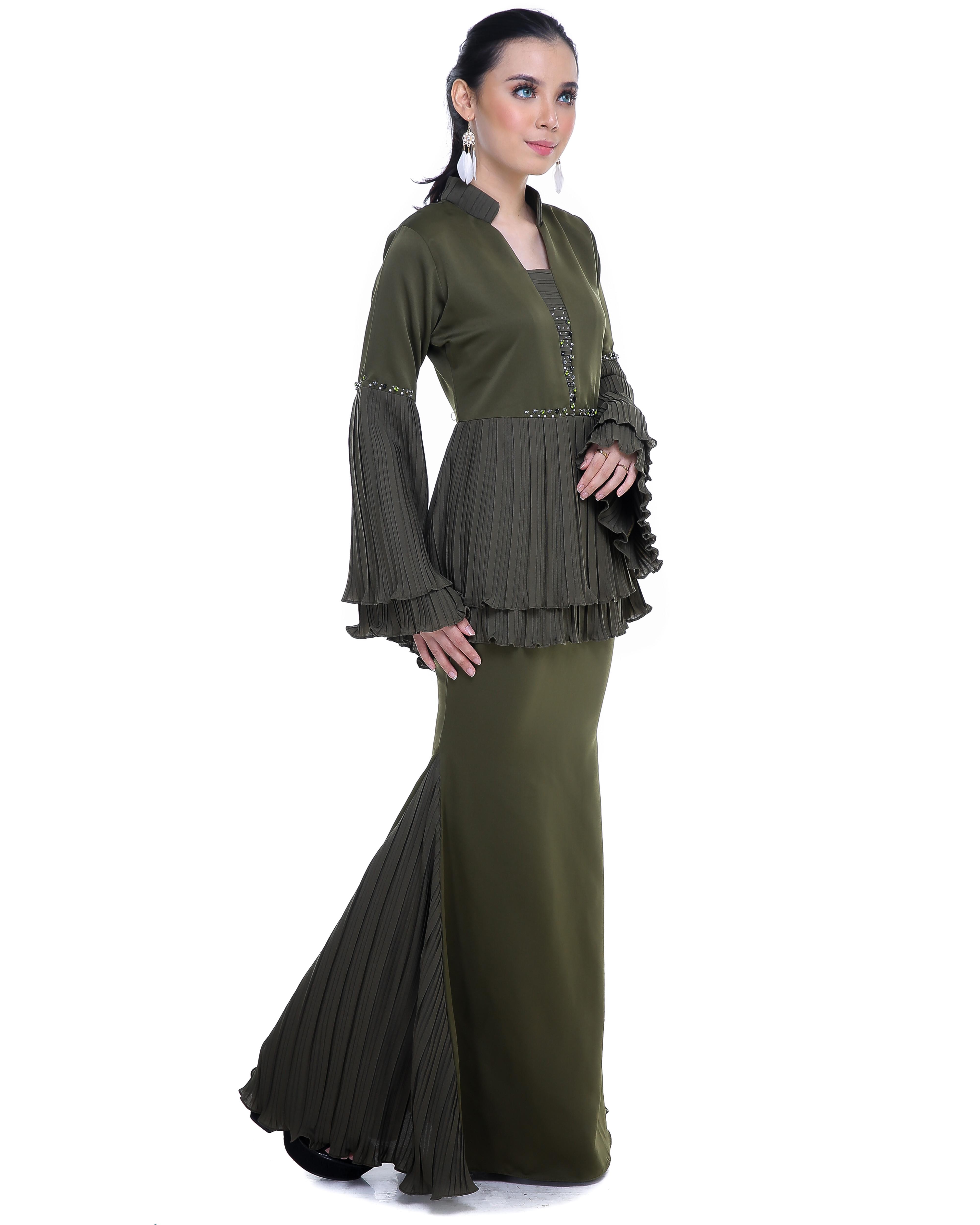 Mellysa (Deenara Premium) - Mossy Green