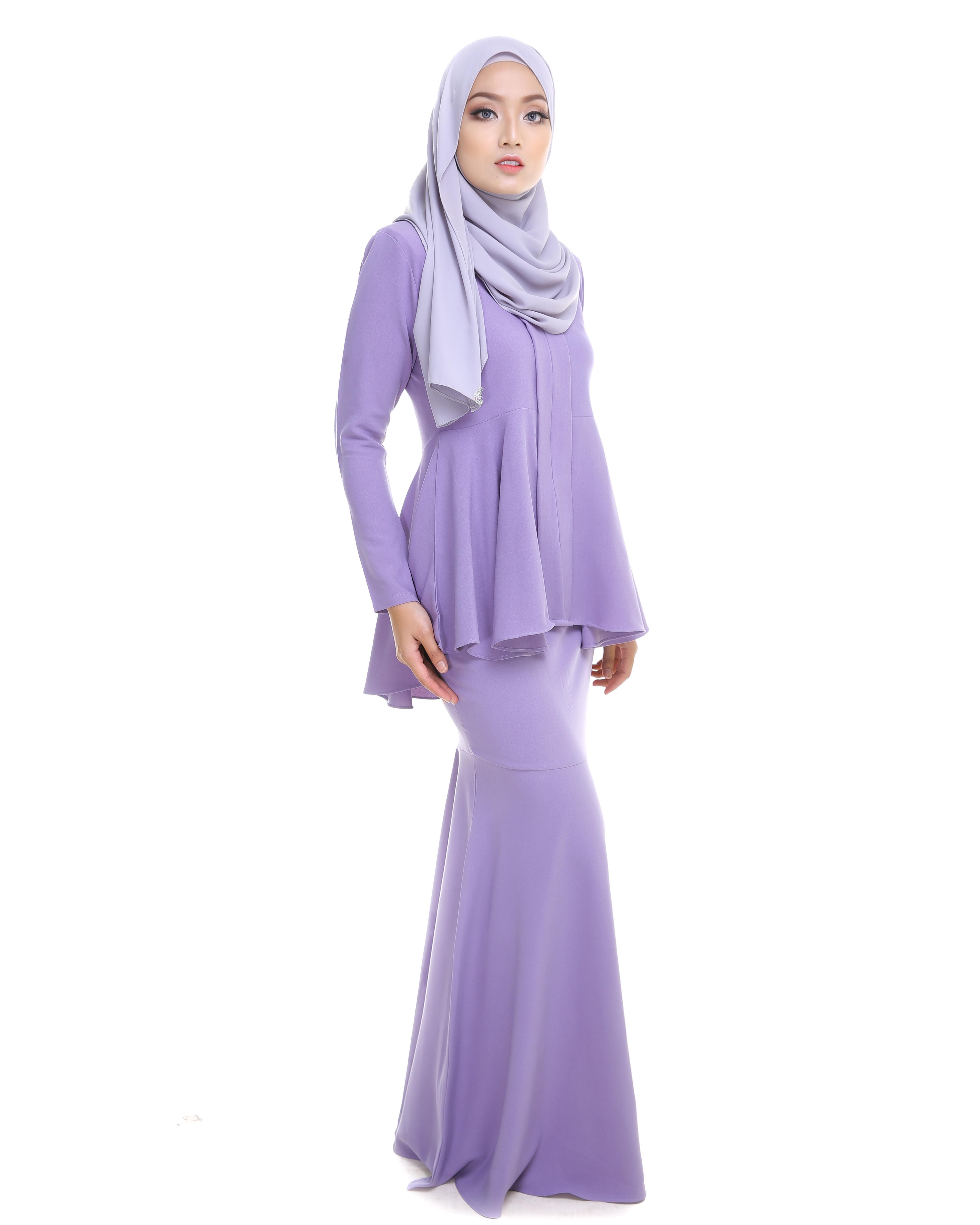 Kebaya Peplum - Lavender