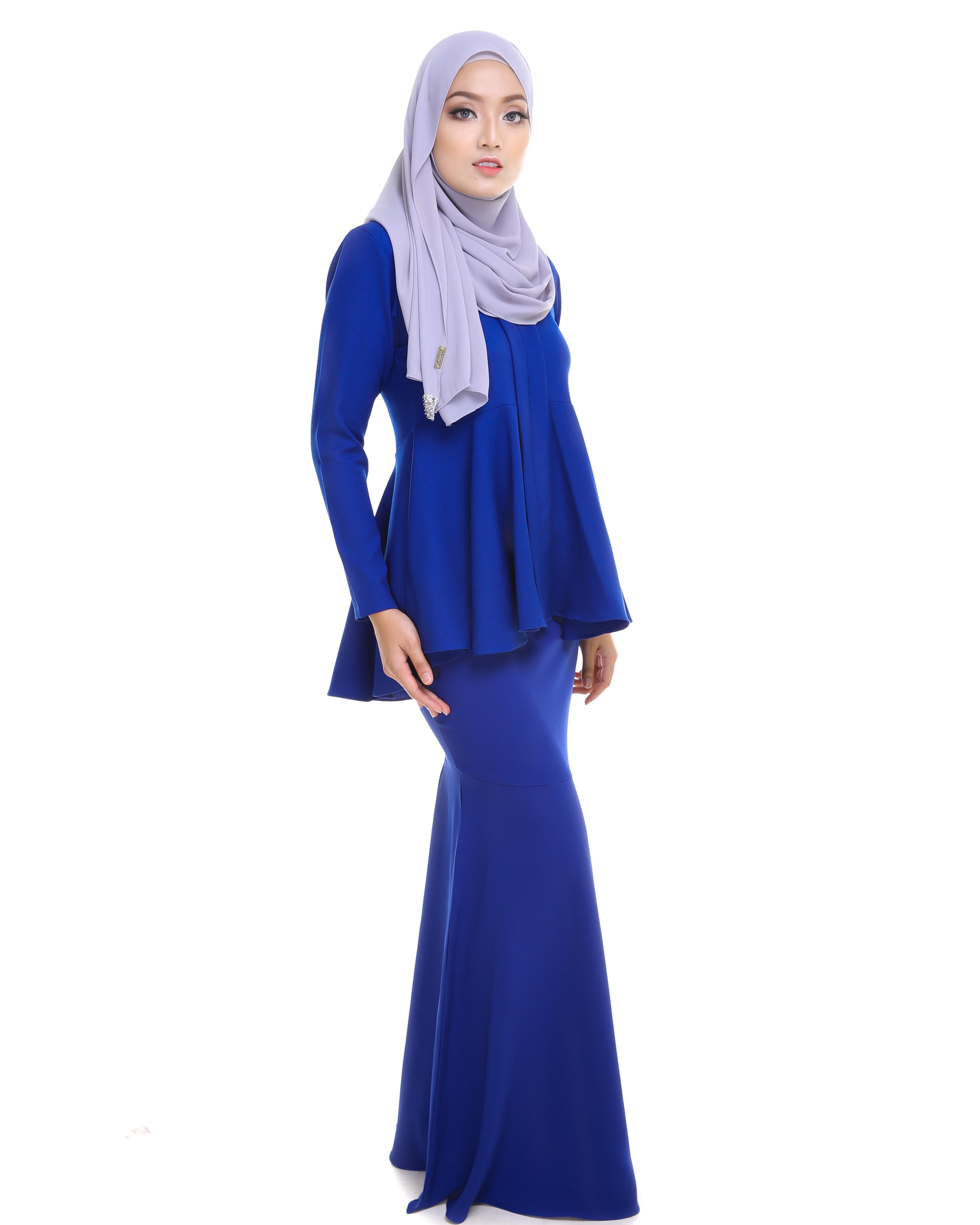 Kebaya Peplum - Royal Blue