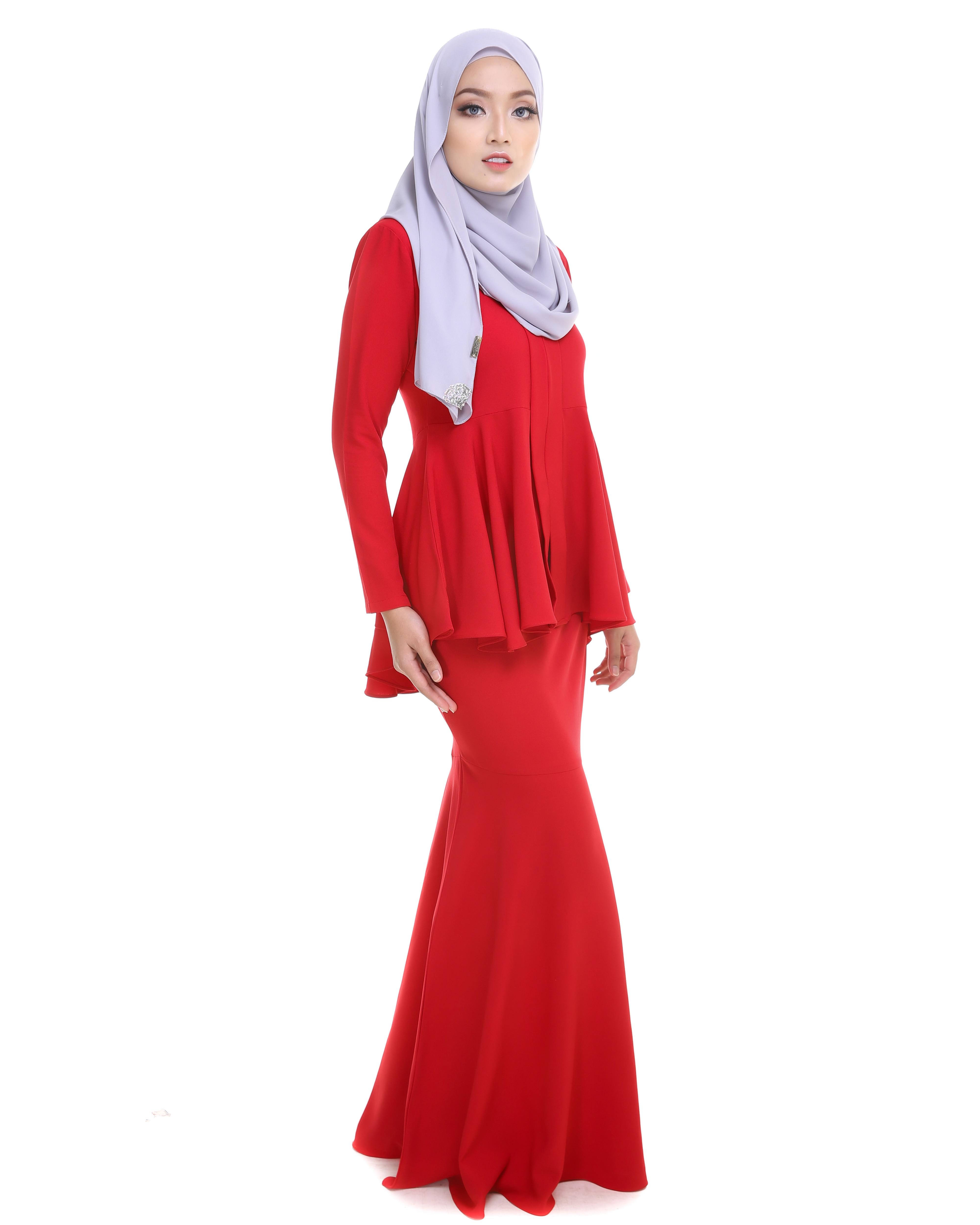 Kebaya Peplum - Red