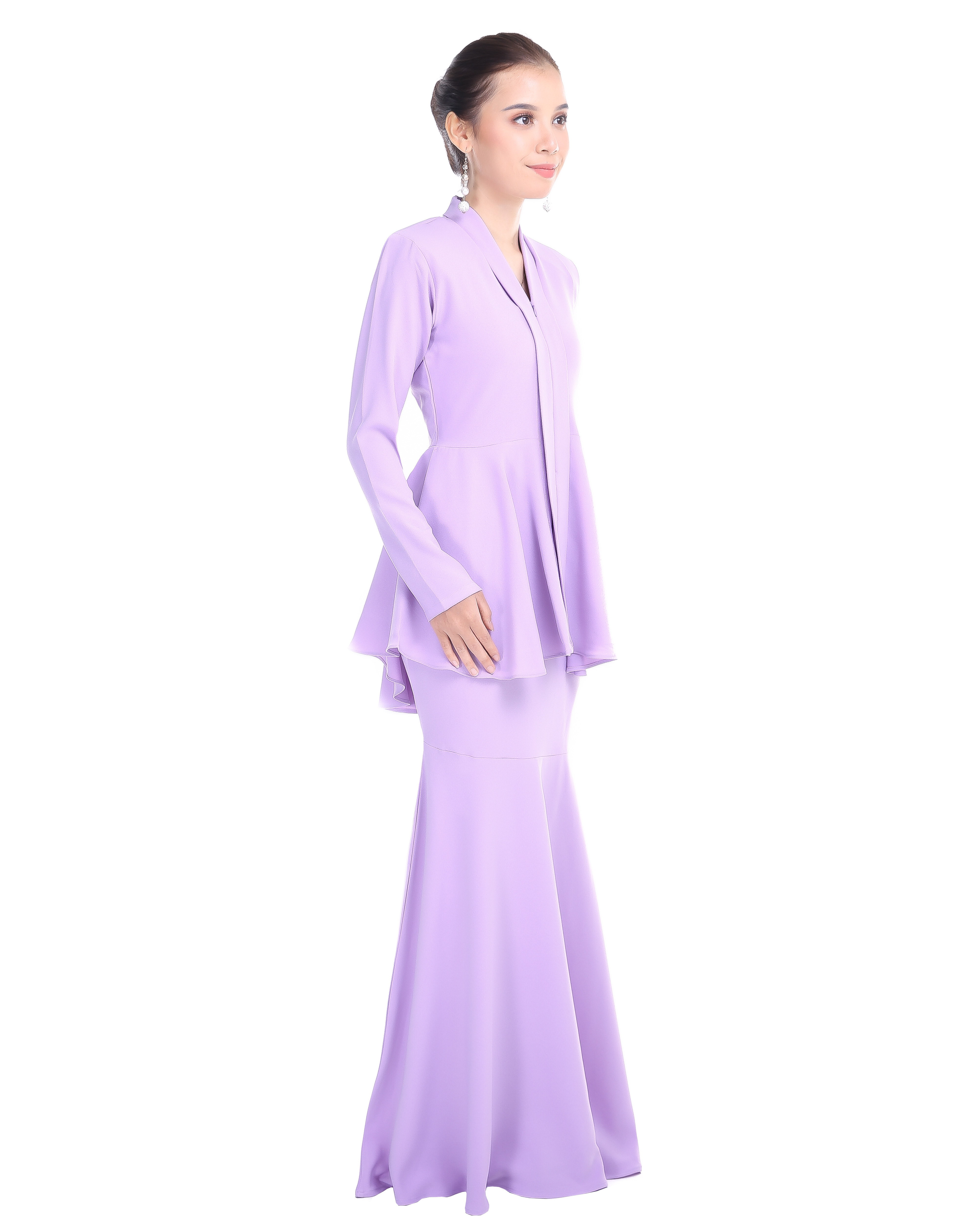 Kebaya Peplum - Soft Lavender
