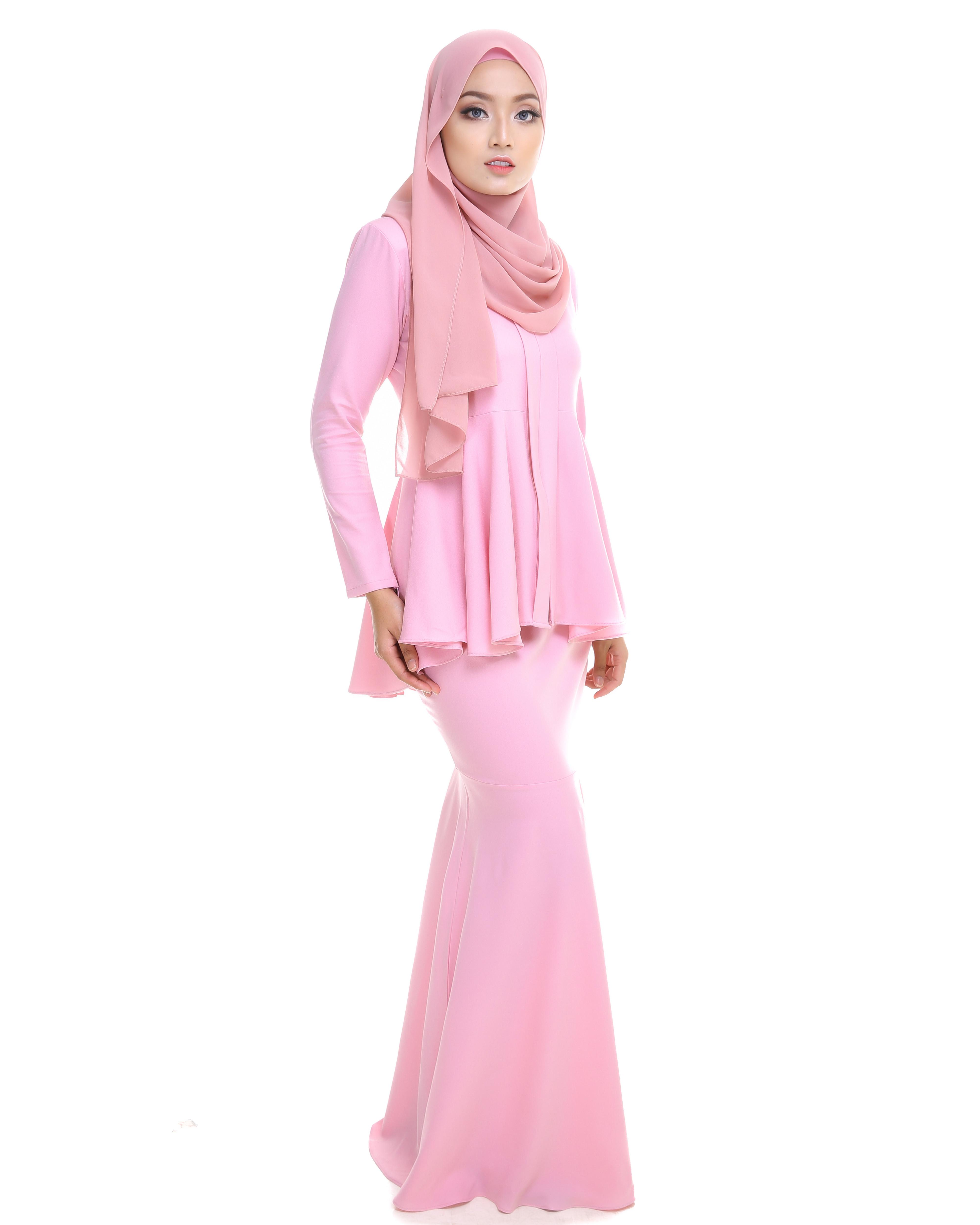 Kebaya Peplum - Baby Pink