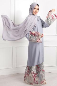 Satin Silk Matte - Oyster Grey - Anggun Chitra