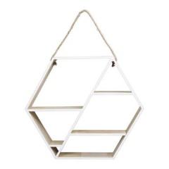 Hexagon Hanging Shelf Natural 53 x 46 cm - KusyaHome- Scandinavian Furniture & Decoration Online Malaysia