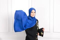 Satin Silk Matte - Blueberry Blue - Anggun Chitra