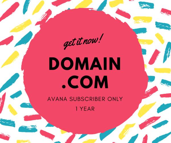 Domain .com for AVANA Plan Subscriber only - AVANA