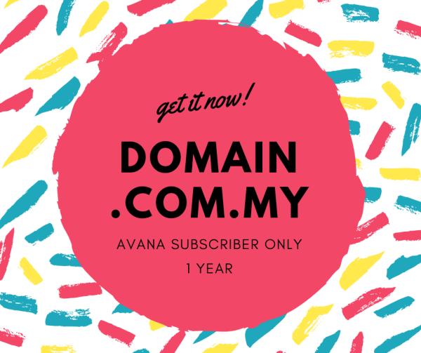 Domain .com.my for AVANA Plan Subscriber only  - AVANA