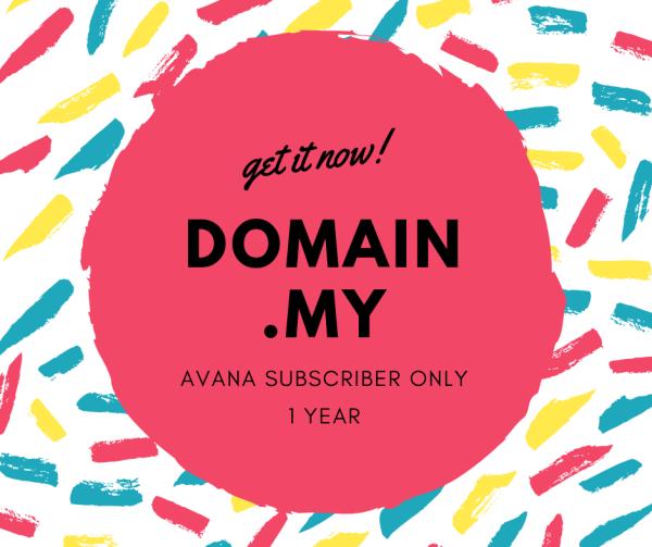 Domain .my for AVANA Plan Subscriber only - AVANA