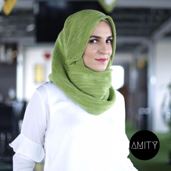 AMITY SCARF TWIST AVOCADO - AMITY